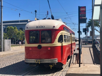 Streetcar (red ones go faster)